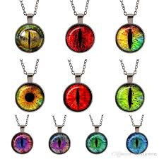 cat eye pendant necklace images Wholesale purple loong cat eye evil eye jewelry glass cabochon jpg