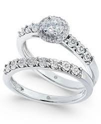bridal set wedding rings bridal set womens engagement and wedding rings macy s