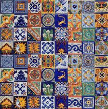 amazon com 100 mexican ceramic tiles handmade talavera tiles