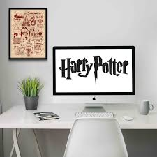 harry potter red poster print art licensed by warner bros