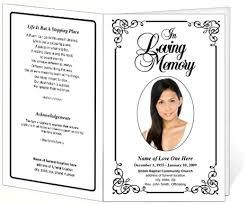 funeral bulletins memorial funeral bulletins simple printable