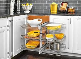 blind corner kitchen cabinet inserts rev a shelf 18 in 3 tier blind corner organizers chrome