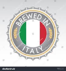 Italian And Mexican Flag Italian Beer Cap Crest Vector Format Stock Vector 267120029