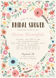 wedding shower invitation whimsical floral garden frame bridal shower invitation bridal