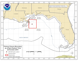 Map Of The Gulf Of Mexico by Deepwater Horizon Bp Oil Spill Closure Information Southeast
