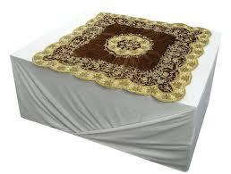 hand beaded beige runner mat home decor sequins table cover velvet