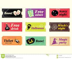 retro halloween vector tickets royalty free stock photos image