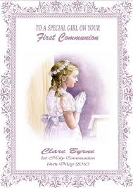 First Communion Invitations Cards Girls First Communion Celebration Invitation Design With Wording