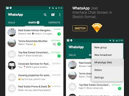 chat android whatsapp android chat ui sketch freebie free resource
