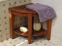 teak corner shower bench for easier showers teakzine