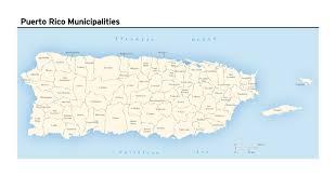 Puerto Rico On World Map Large Municipalities Map Of Puerto Rico Puerto Rico North
