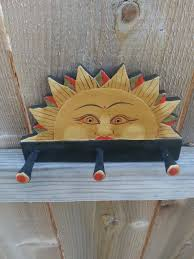 sun hook coat hanger jewelry holder vintage pegs astrology