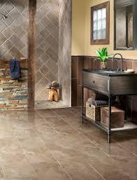 travertine and slate bathroom rustic bathroom atlanta by
