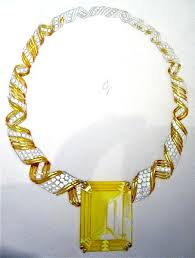 yellow sapphire necklace images Gregory david coster jewels designer fine jewelry period jpg
