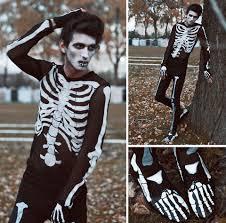 andre judd diy handpainted skeleton on recycled suit diy