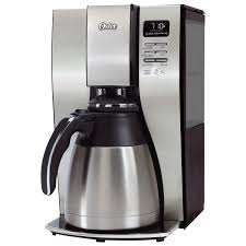 Coffee Maker With Grinder And Thermal Carafe Oster Thermal 10 Cup Coffee Maker Bvstpstx95 033 Stainless