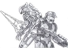 halo master chief free coloring pages on art coloring pages