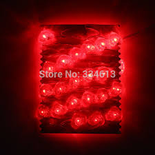 heart shaped christmas lights battery operated 3m 40led red heart shaped string lights valentine