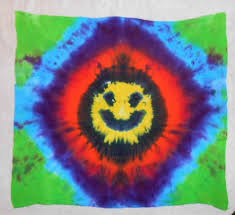 tie dye home decor tie dye tapestry rainbow tapestry smiley face decor dorm room