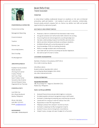 resume format for the post of senior accountant responsibilities beautiful accountant job cv format mailing format