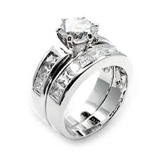 wedding ring sets cheap silver wedding ring sets