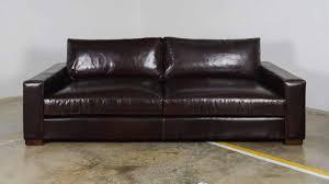 Brompton Leather Sofa Ship 93 X 46 Sofa In Brompton Leather Cococo Home