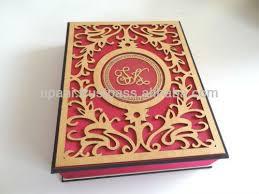 indian wedding card box pink laser cut wedding invitation box acrylic and faux silk indian