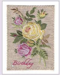 embroidered linen greeting cards birthday sympathy thank you get
