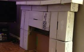 fireplace from cardboard stovers
