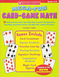 amazon com mega fun card game math grades 3 5 0078073448555