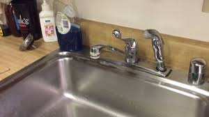 Leaky Kitchen Faucet How To Fix A Dripping Kitchen Faucet Single Handle Youtube