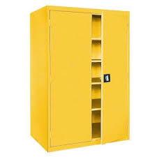 Steel Storage Cabinets Yellow Garage Cabinets U0026 Storage Systems Garage Storage The