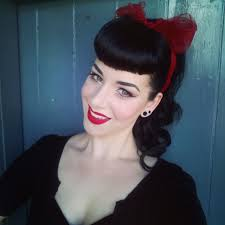 pinup clip in ponytail with bangs ask miss victory violet quick pinup hair makeup miss victory violet