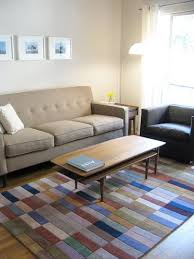 How Big Should Rug Be In Living Room Choosing A Rug Size Five Approaches Apartment Therapy