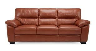 Dalmore Leather And Leather Look  Seater Sofa Brazil With Leather - Leather 3 seat sofa