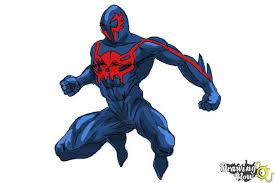 draw spiderman 2099 drawingnow