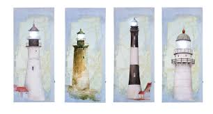 lighted canvas art with timer light house wall art set of four lighted pictures with timer