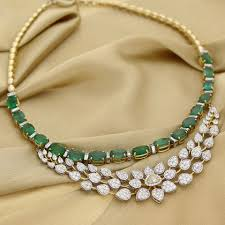 diamond emerald necklace images Manubhai jeweller 39 s diamond emerald necklace south india jewels jpg