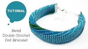 crochet bracelet images Flat bead crochet bracelet tutorial uses double sided tape inside jpg