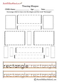 tracing shapes worksheets rectangles transitional kindergarten