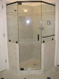 Bathrooms With Corner Showers Decoration Fantastic Decorating Ideas Using Silver Iron Towel