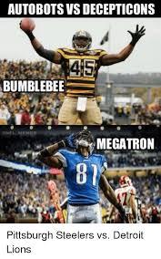 Ravens Steelers Memes - autobots vsdecepticons 45 bumblebee onfl memes megatron pittsburgh