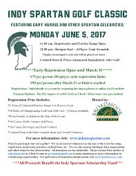 indy spartan golf classic featuring gary harris and other spartan