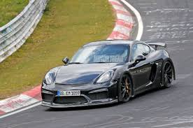 new porsche 2018 new porsche 718 cayman gt4 seen testing on the nurburgring