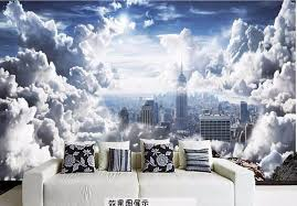 home decor 3d hd aesthetic sky white clouds wall papers home decor 3d wallpaper