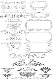 free vector ornaments calligraphic elements 123freevectors