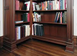 walnut bookcases in existing library custom cabinetry by ken leech