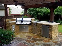 Kitchen Burt Stone Outdoor Kitchen Cabinet Under Pergola - Outdoor kitchen cabinets polymer