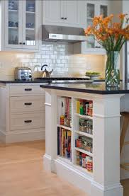 kitchen island shelves kitchens small shelves built into kitchen island for books and