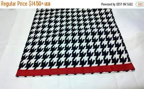 table runner or placemats on sale now houndstooth table linens with red band houndstooth